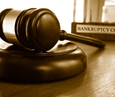 Bankruptcy court gavel